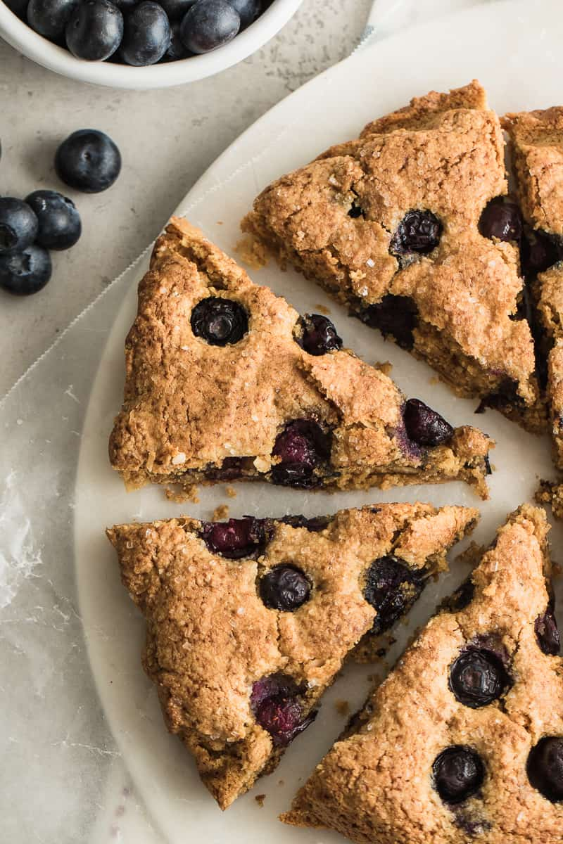 gluten free scones on a plate