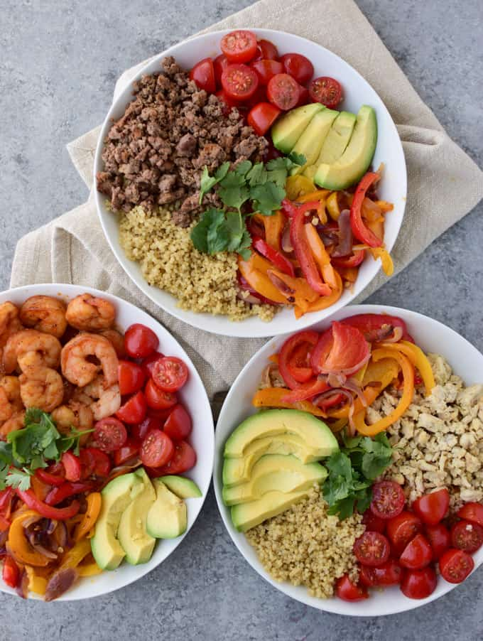 Easy Three Way Quinoa Lunch Bowl Recipe Healthy Fitness Meals