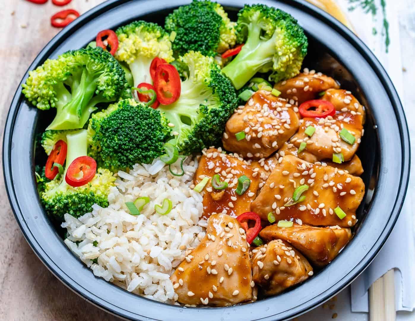 Teriyaki Chicken Meal Prep Bowls Recipe Healthy Fitness Meals