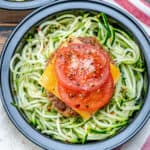 Turkey burger and zoodles