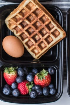 Meal Prep Paleo Waffles Breakfast Recipe