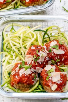 Meal Prep Turkey Meatball Zoodles Recipe