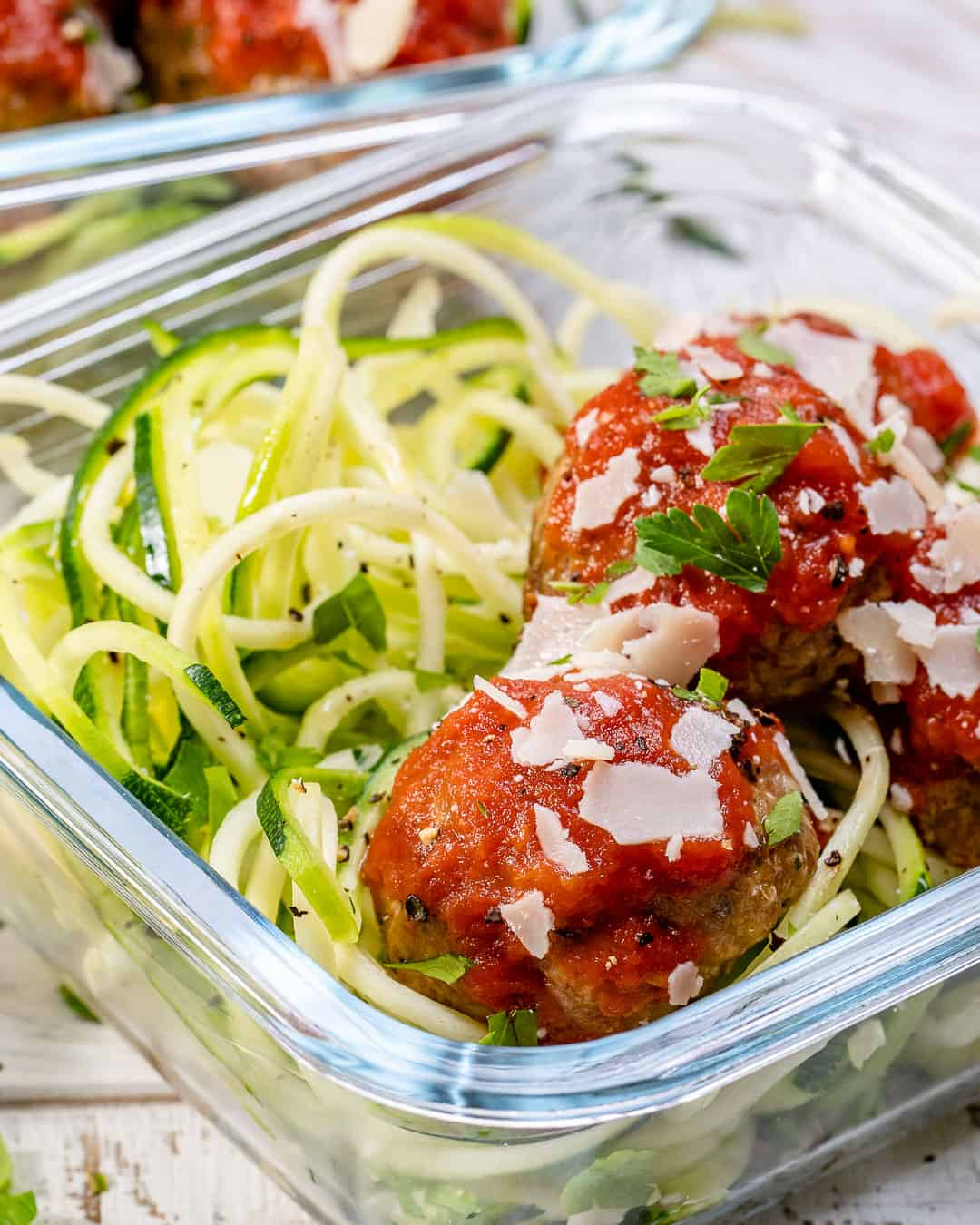 close up of Zoodles Recipe