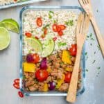 ground turkey cauliflower rice