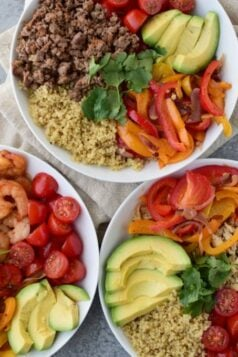 Easy Three Way Quinoa Lunch Bowl Recipe