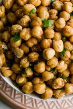 Roasted Cilantro Chickpeas Recipe