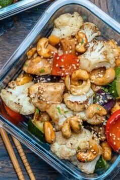 Baked Cashew Chicken and Veggies