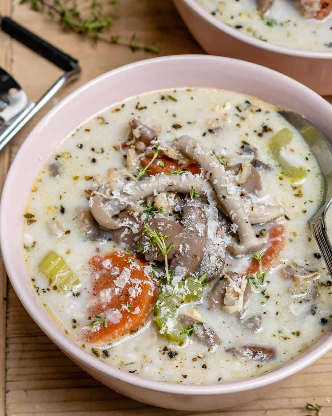 wild rice mushroom soup with chicken