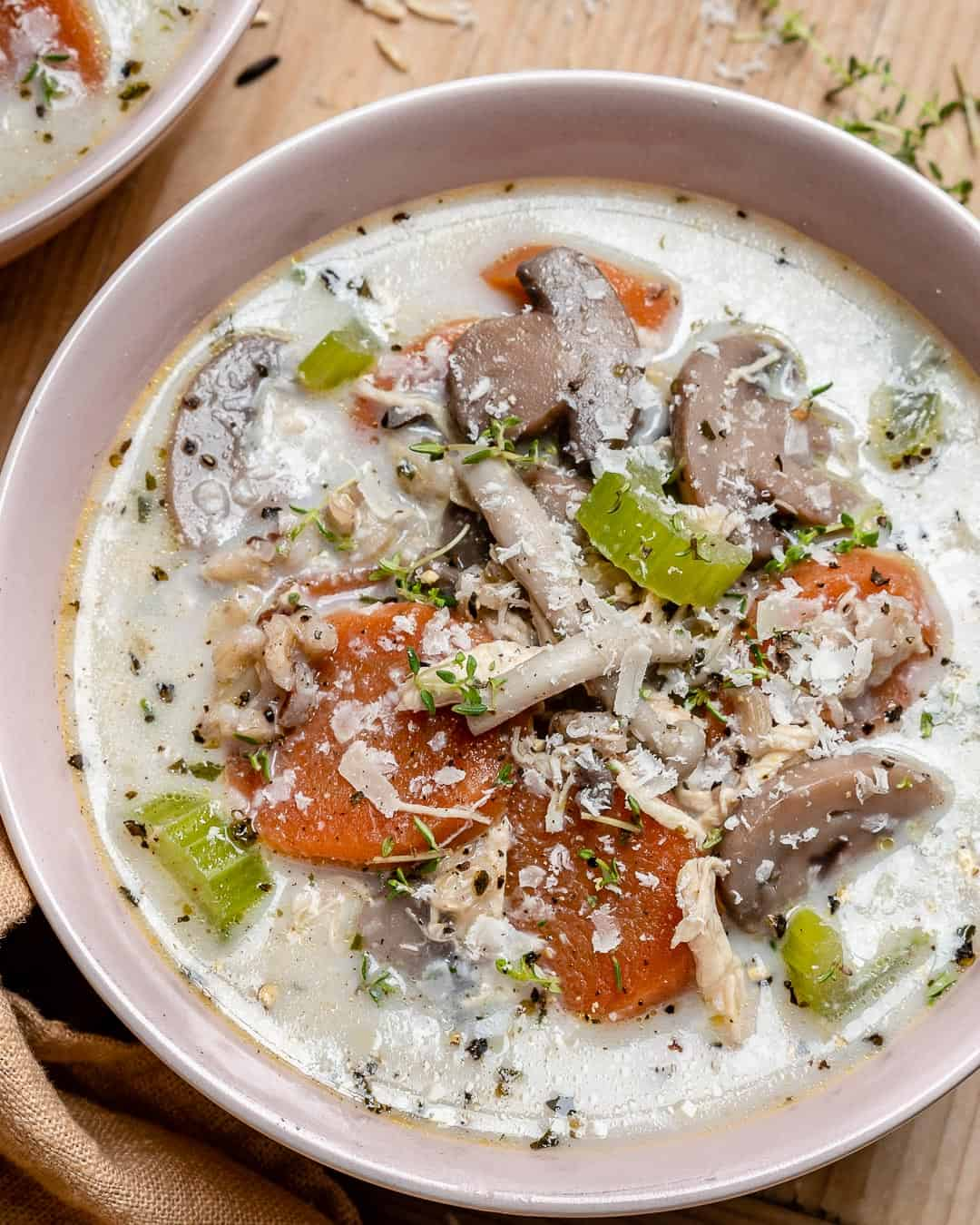 creamy chicken soup recipe with wild rice