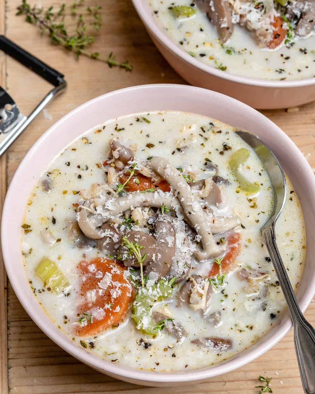 chicken mushroom and wild rice soup recipe