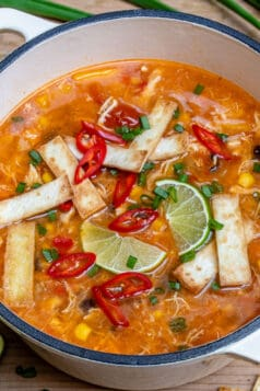 Easy Chili Chicken Tortilla Soup