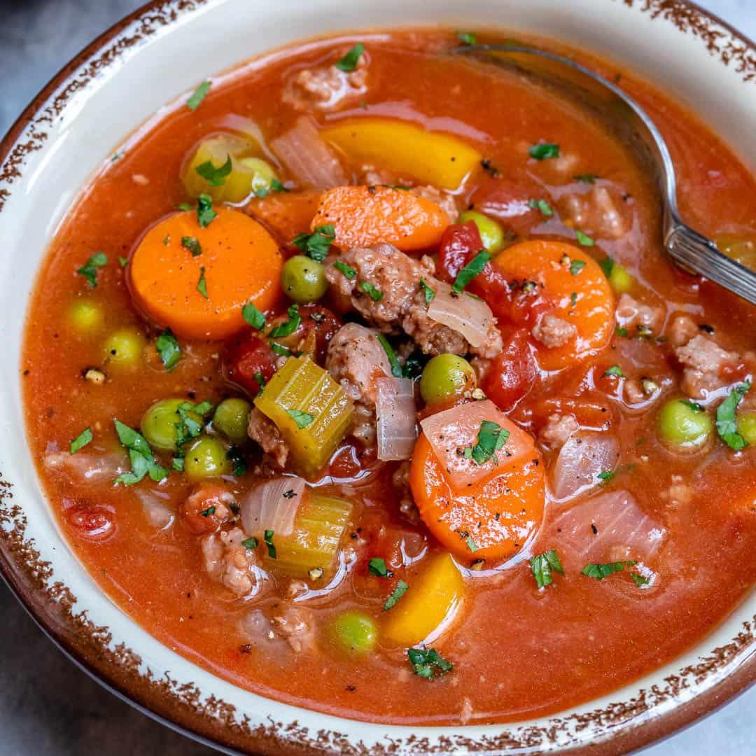 easy healthy hamburger soup recipe
