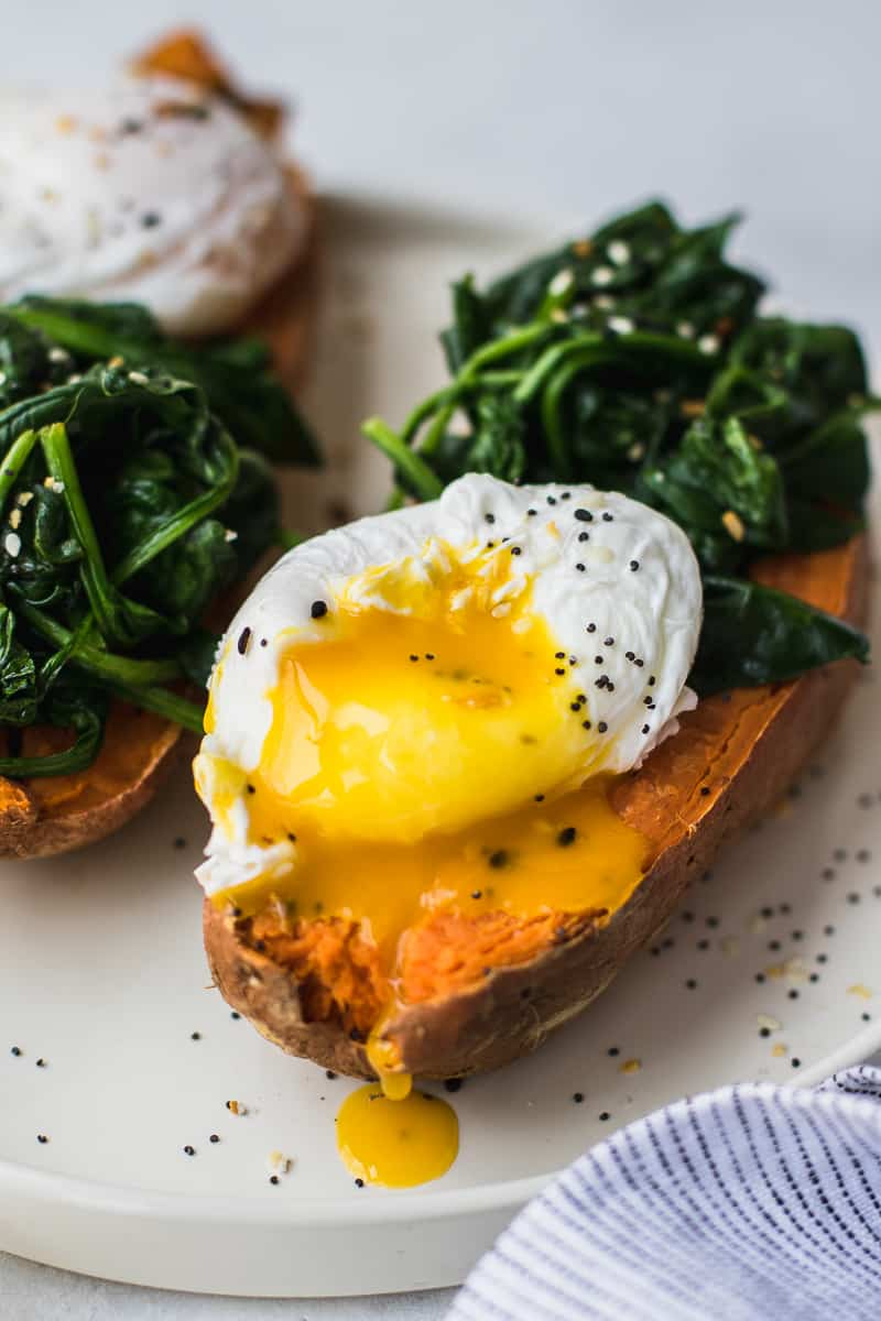 Poached Egg Sweet Potato Breakfast