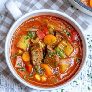 veggie and beef soup recipe