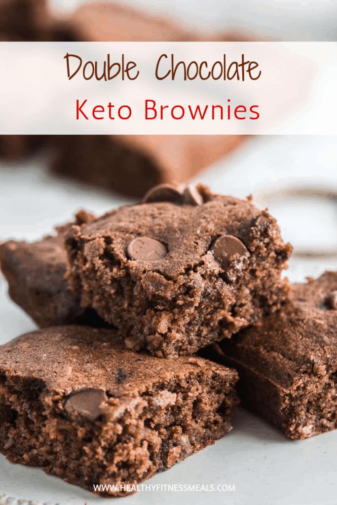 Double chocolate keto brownies