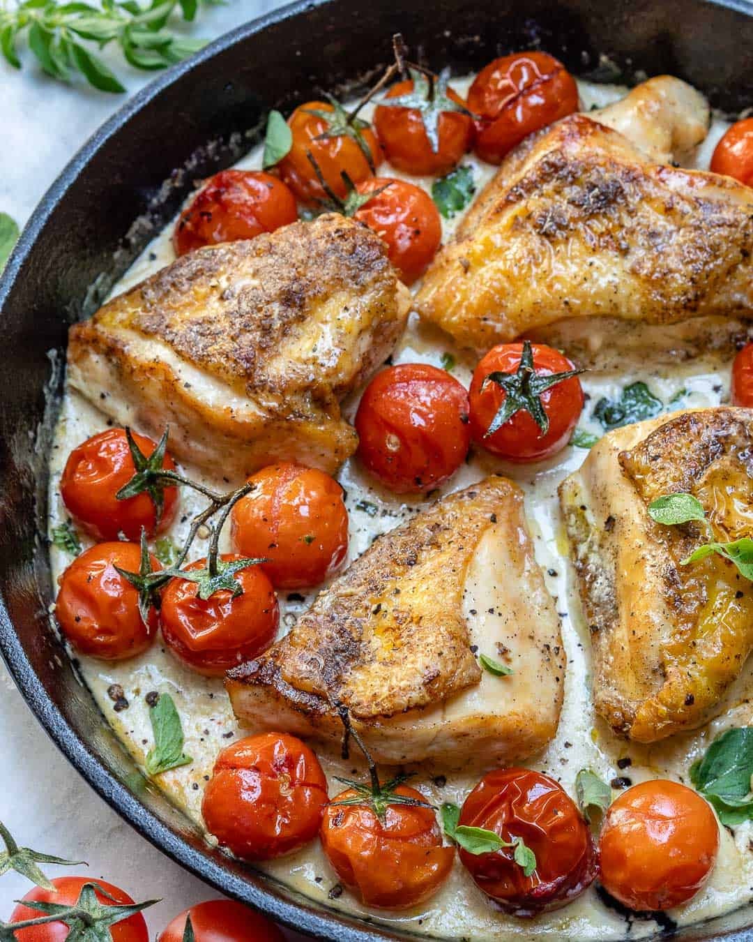 chicken breast recipe made with fresh cherry tomatoes