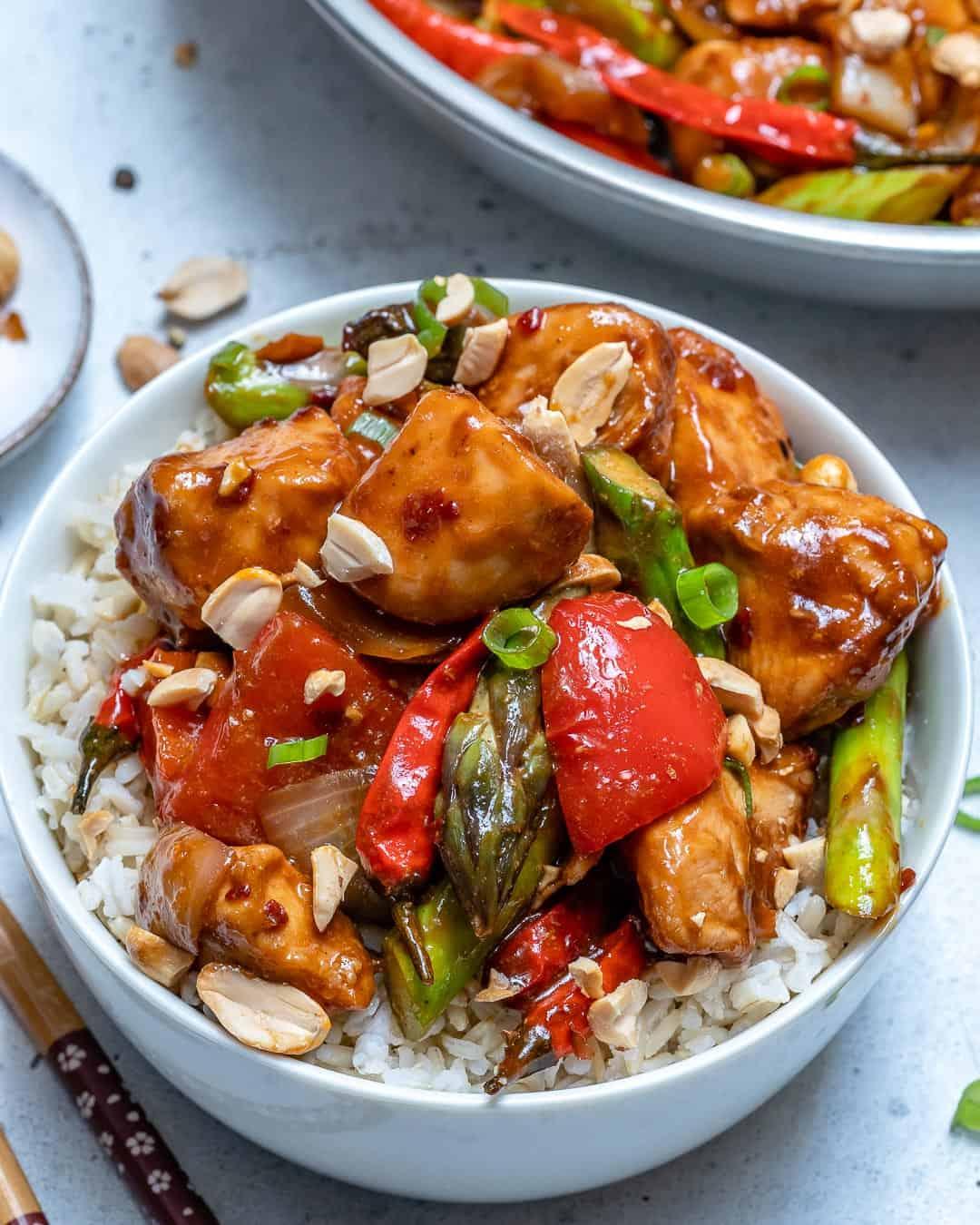 Chinese chicken stir-fry recipe with veggies