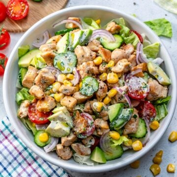 chicken salad recipe with healthy ranch dressing
