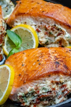 Sun-dried Tomato Stuffed Salmon