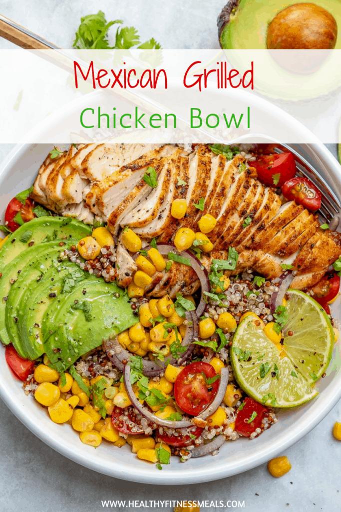 grilled chicken quinoa bowl