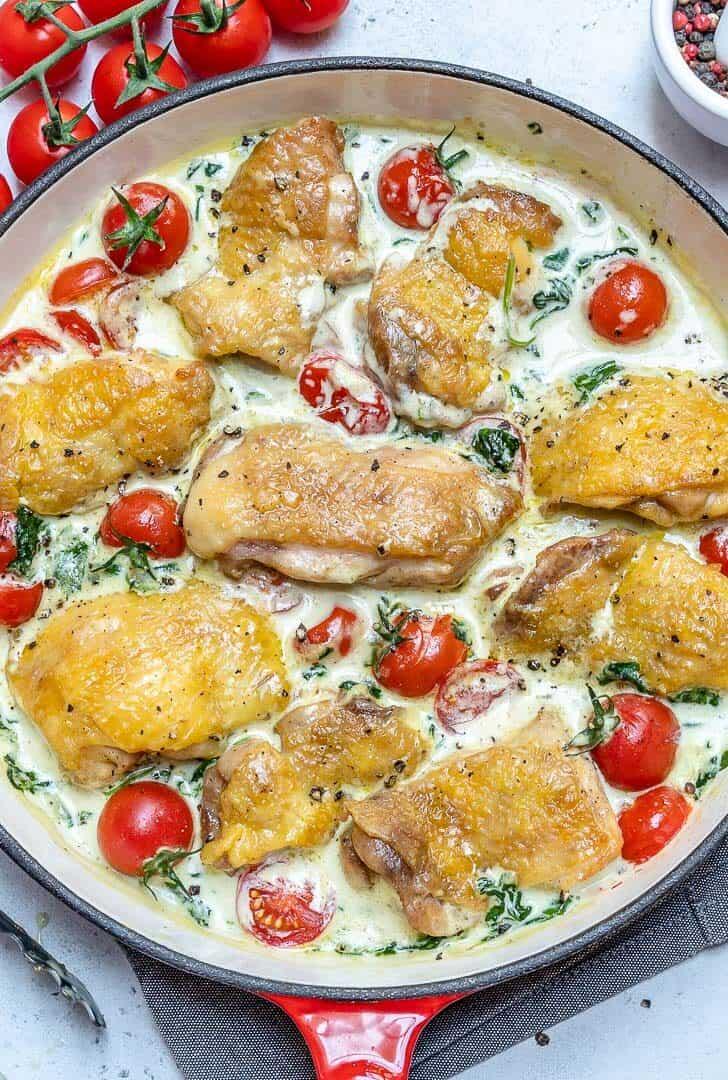creamy chicken skillet