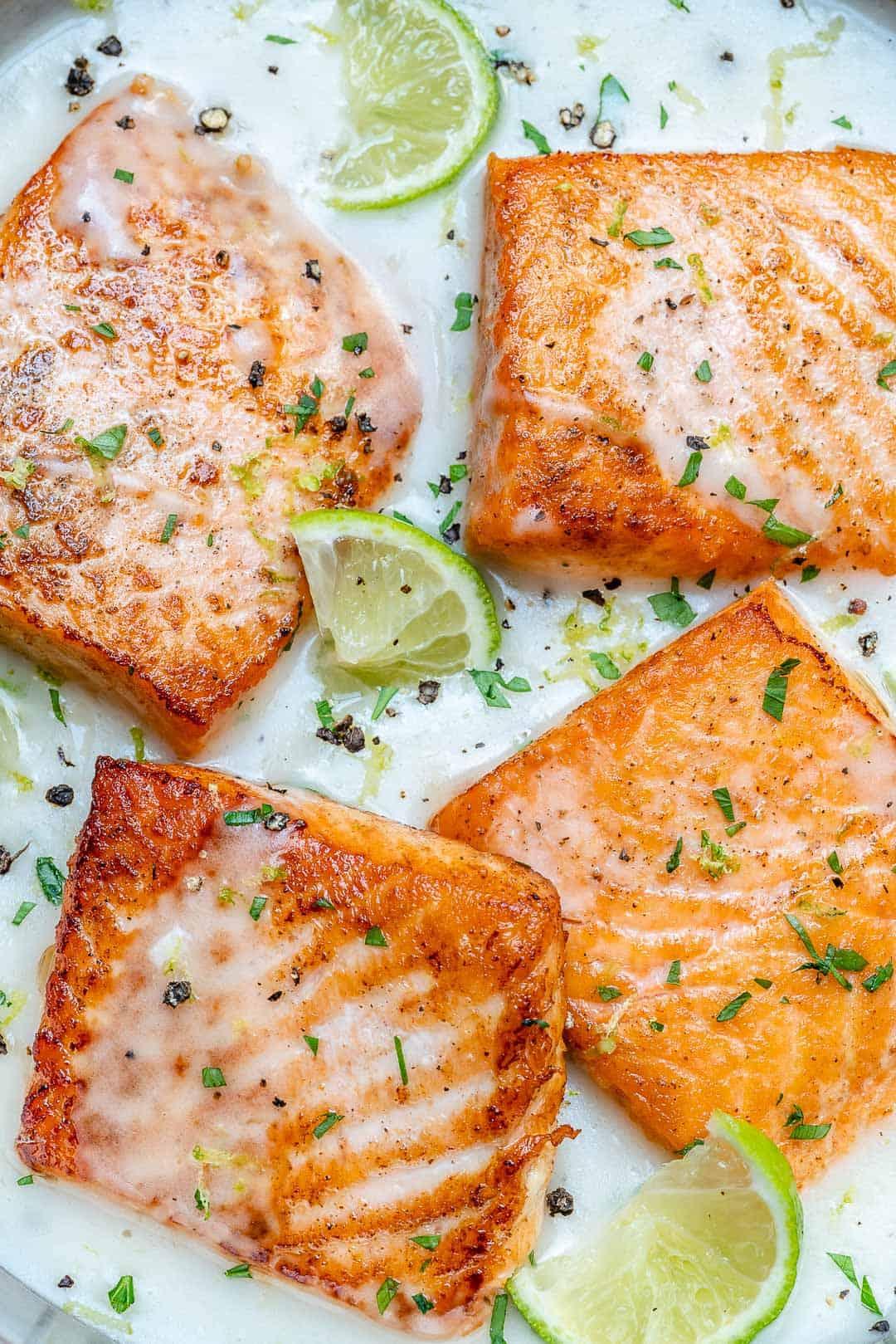 creamy salmon skillet recipe