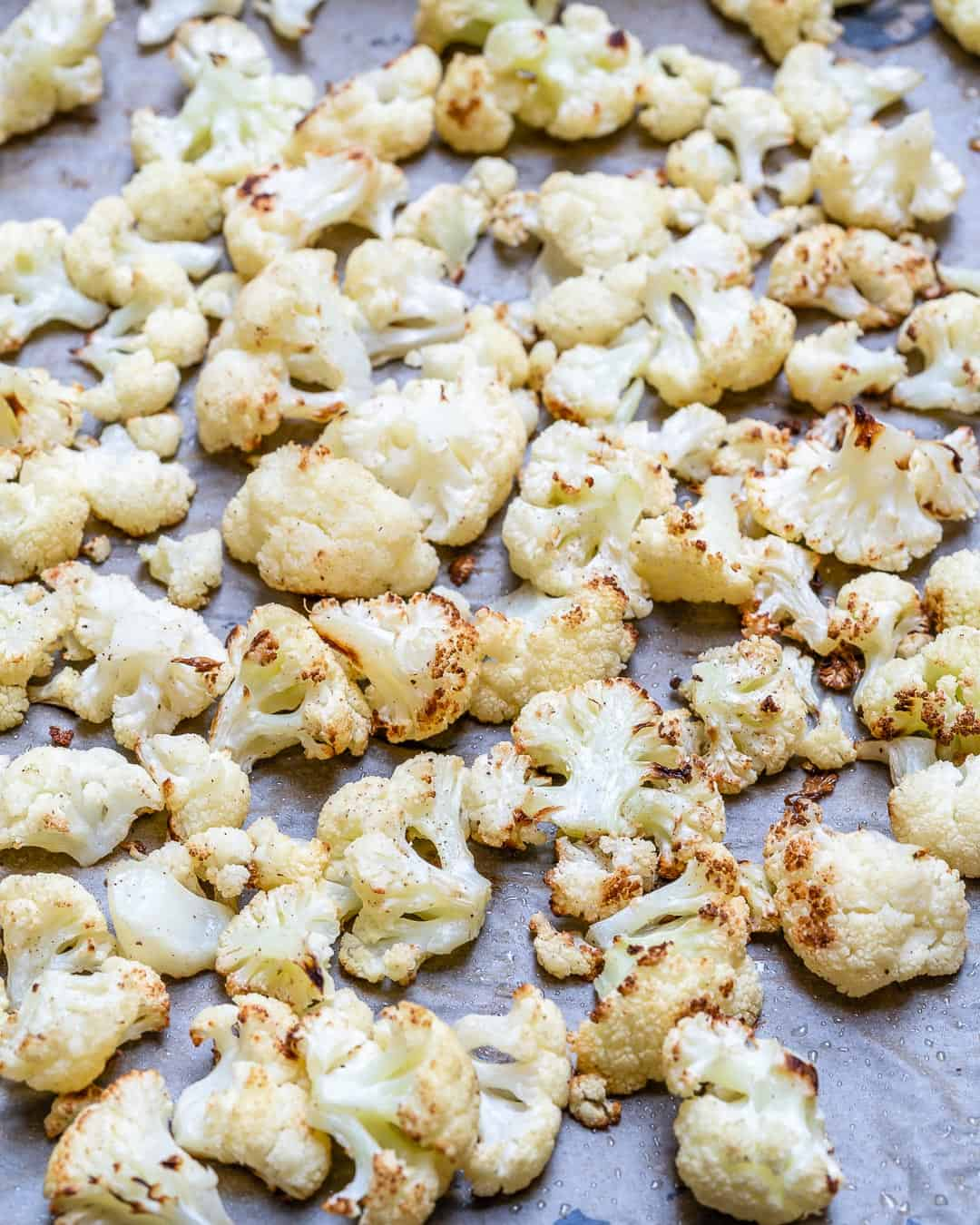 cooked cauliflower in oven
