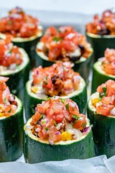 Taco Stuffed Zucchini Cups