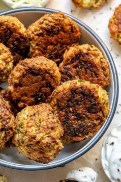 Garlic Herb Zucchini Fritters