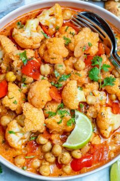 Chickpea cauliflower curry