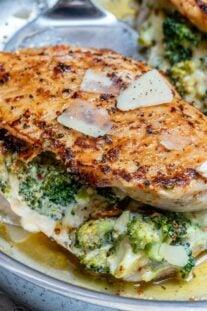Cheesy broccoli stuffed chicken