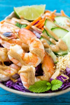Healthy Peanut Shrimp Salad