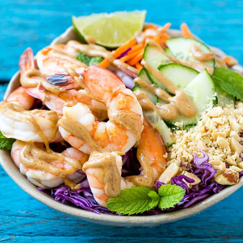 easy asian shrimp salad recipe