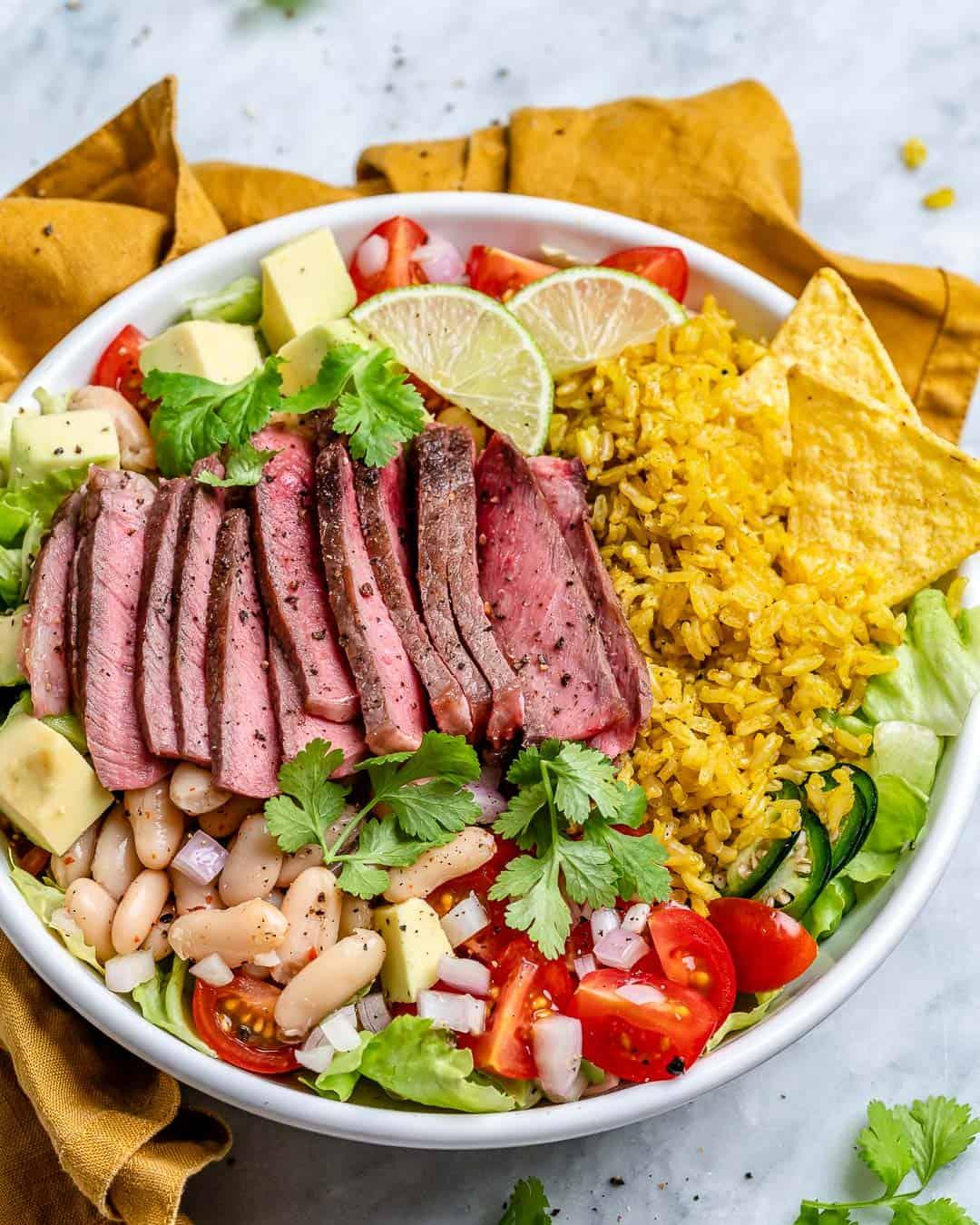 carne asada steak bowl recipe
