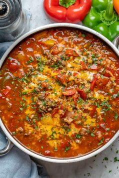 Easy Stuffed Pepper Soup