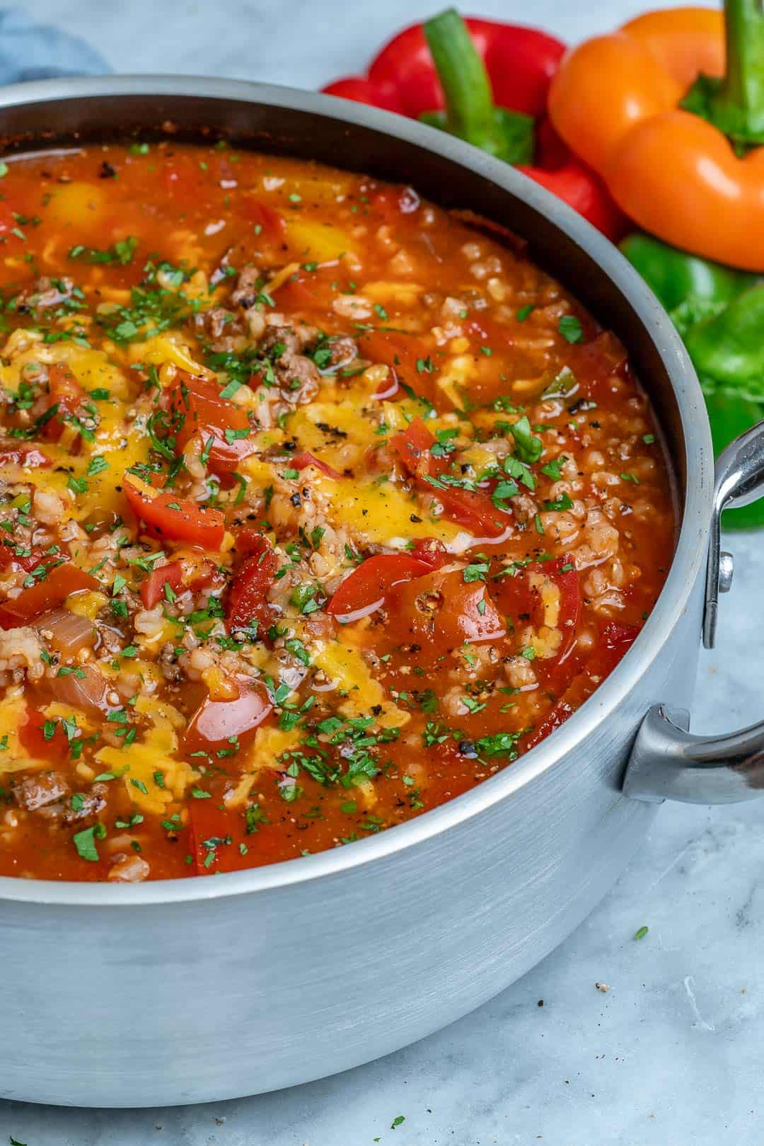 one pot soup recipe with beef and bell peppers