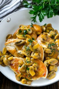 easy chicken recipe with mushroom sauce