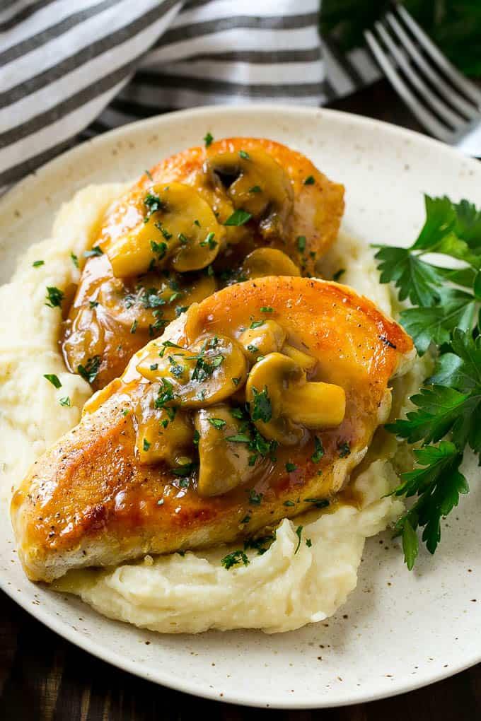 chicken and mash potatoes