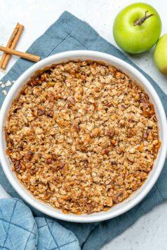 Easy Oatmeal Apple Crumble