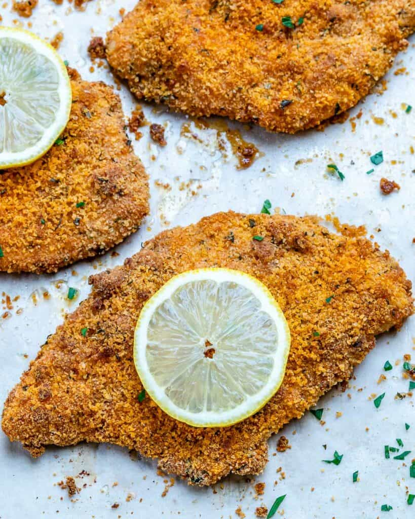 cripsy oven fried chicken cutlets