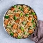 healthy shrimp and cauliflower alfredo
