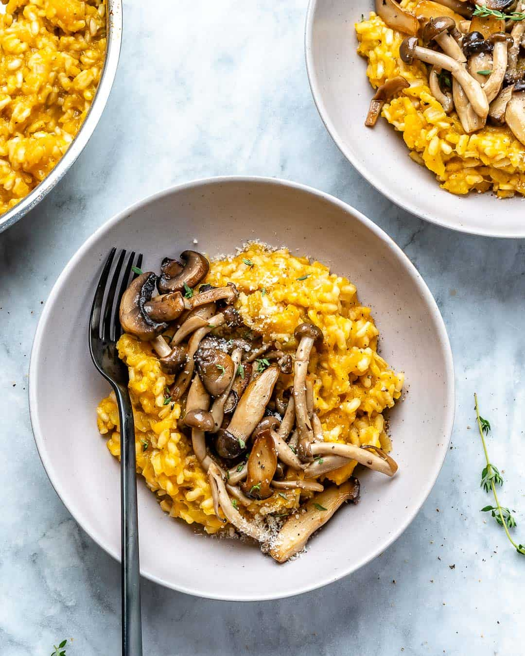healthy mushroom risotto recipe