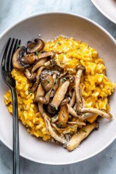 Butternut Squash Mushroom Risotto