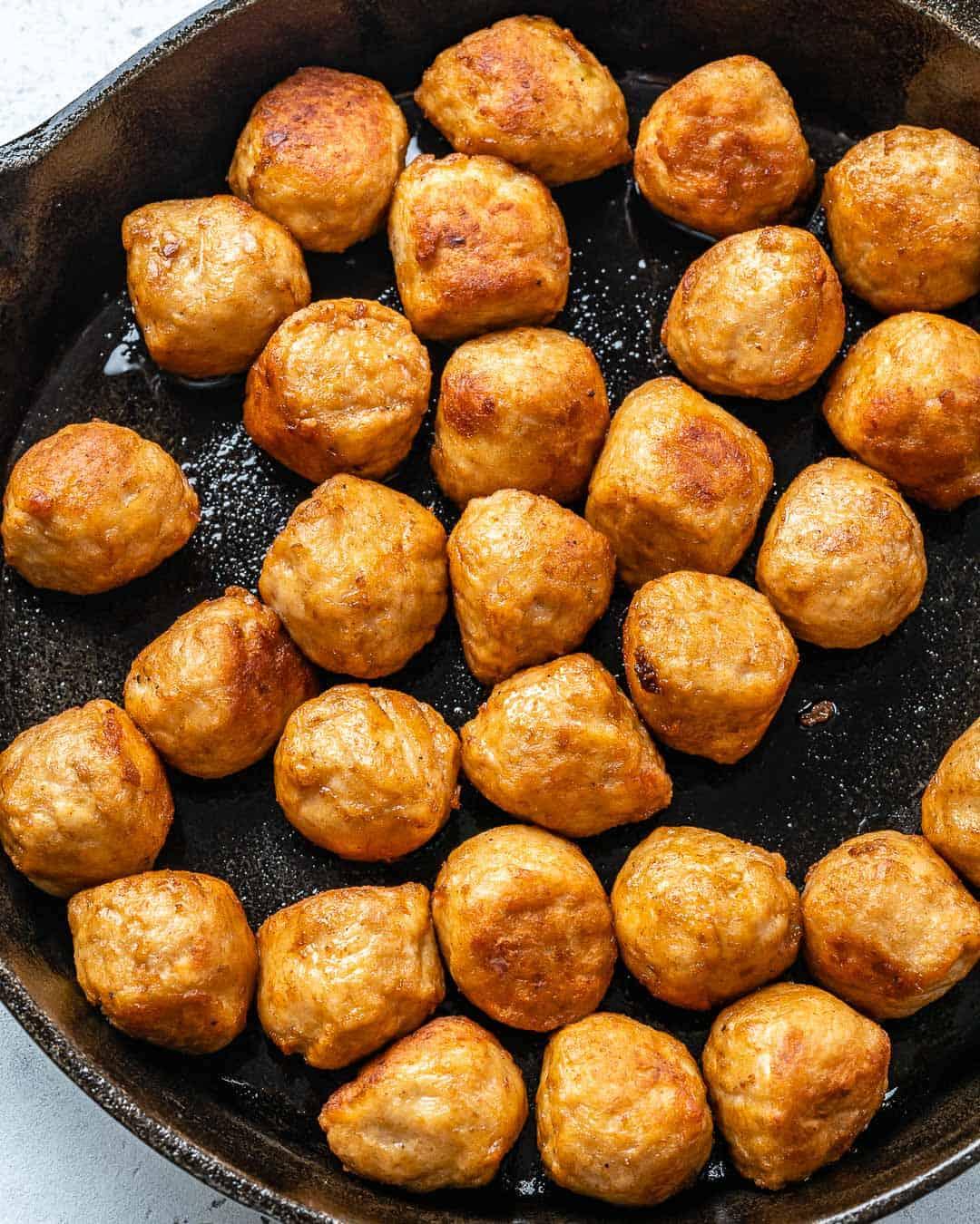 sauteed chicken meatballs
