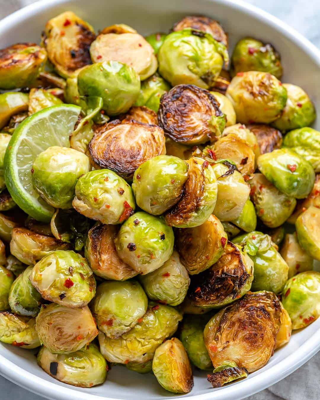 garlic charred brussel sprout recipe