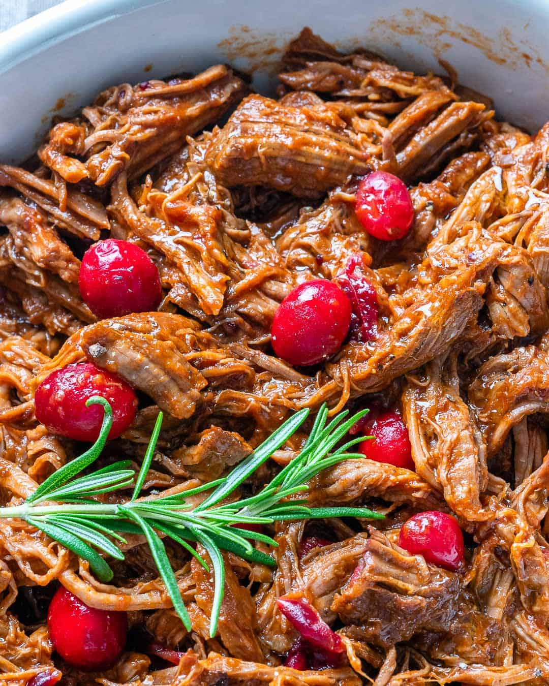 cranberry sauce with beef brisket