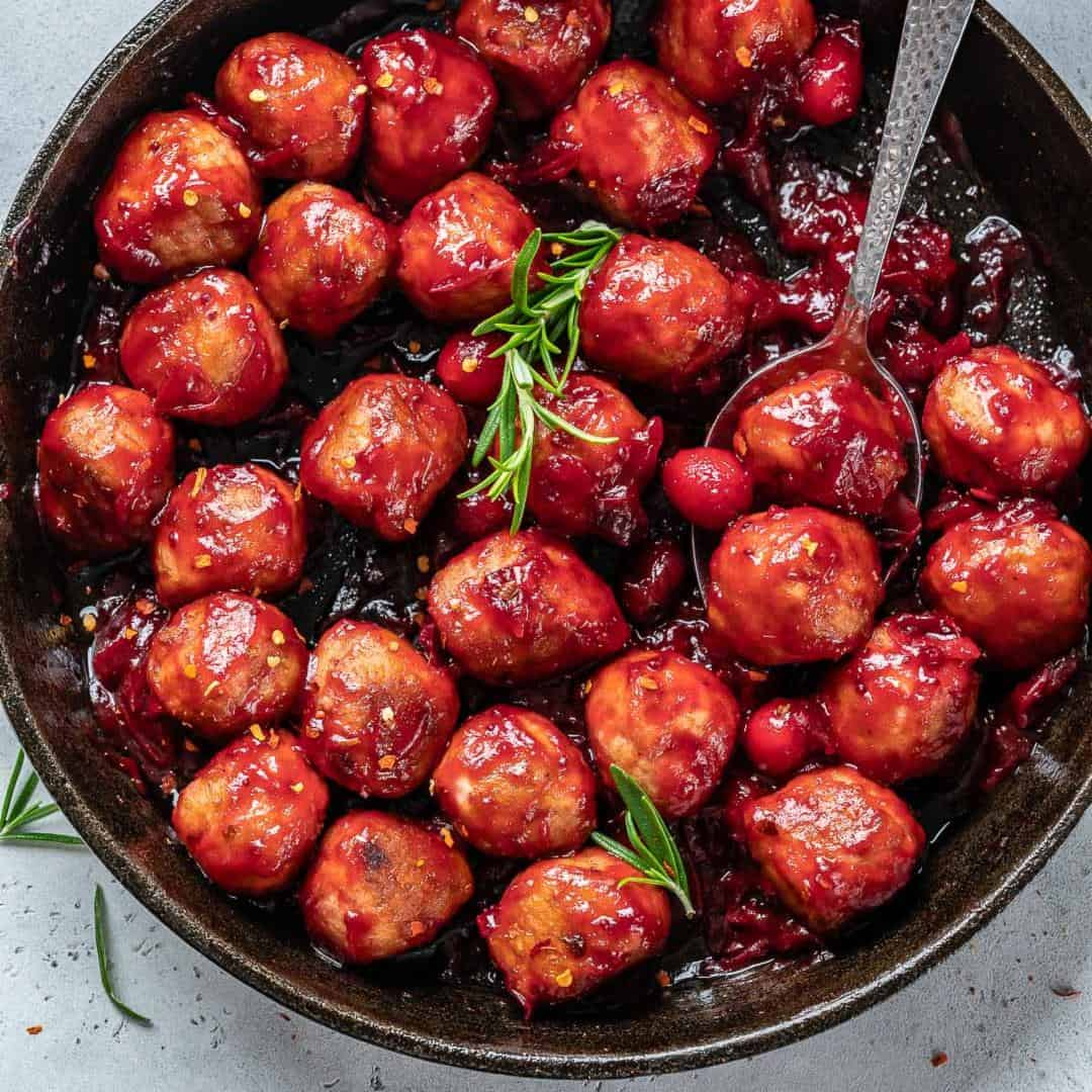 cranberry sauce chicken meatballs
