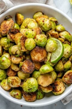 Garlic Charred Brussel Sprouts