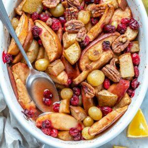 Spiced hot fruit bake