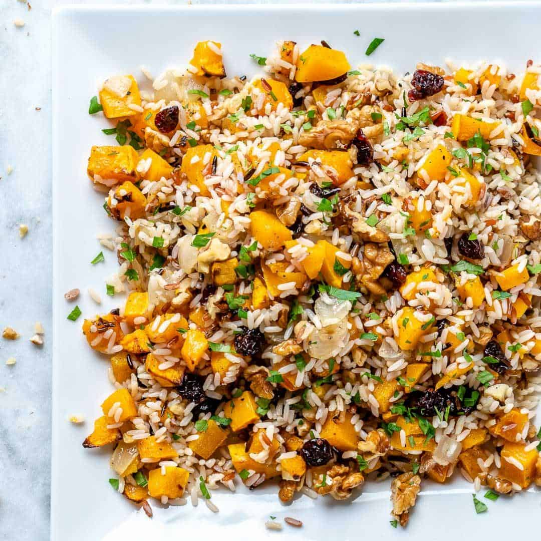squash and rice stuffing